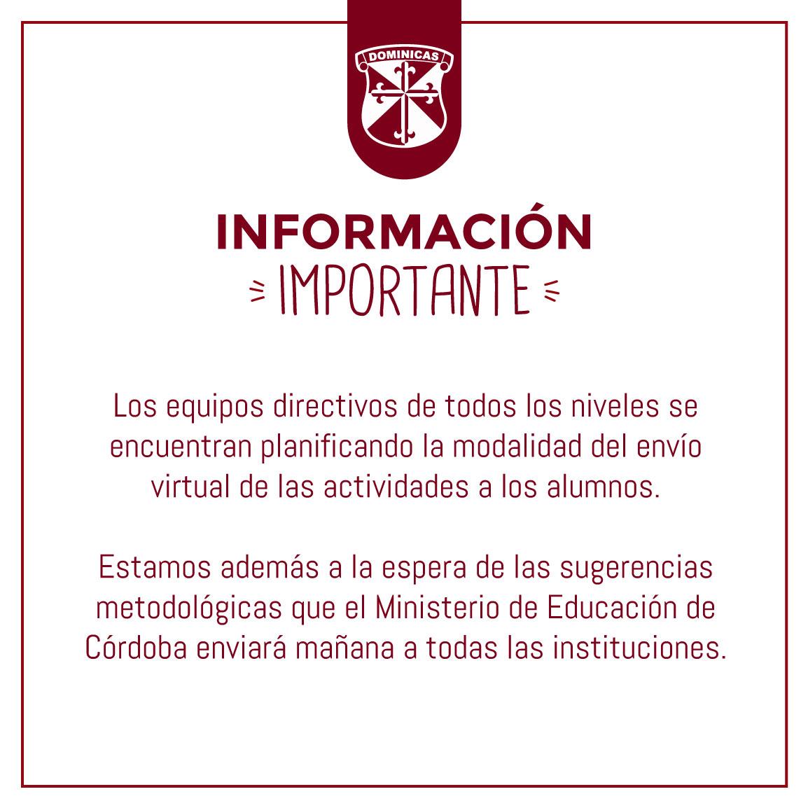 16/03 Información Importante