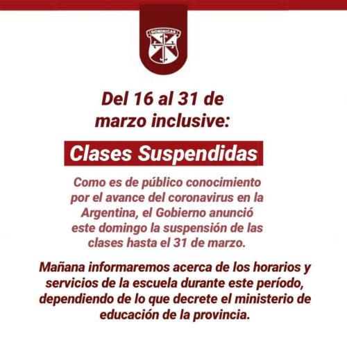 Clases Suspendidas