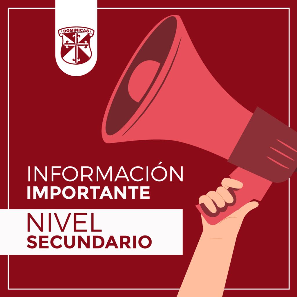 Nivel Secundario Información Importante