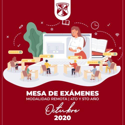 MESA DE EXÁMENES OCTUBRE
