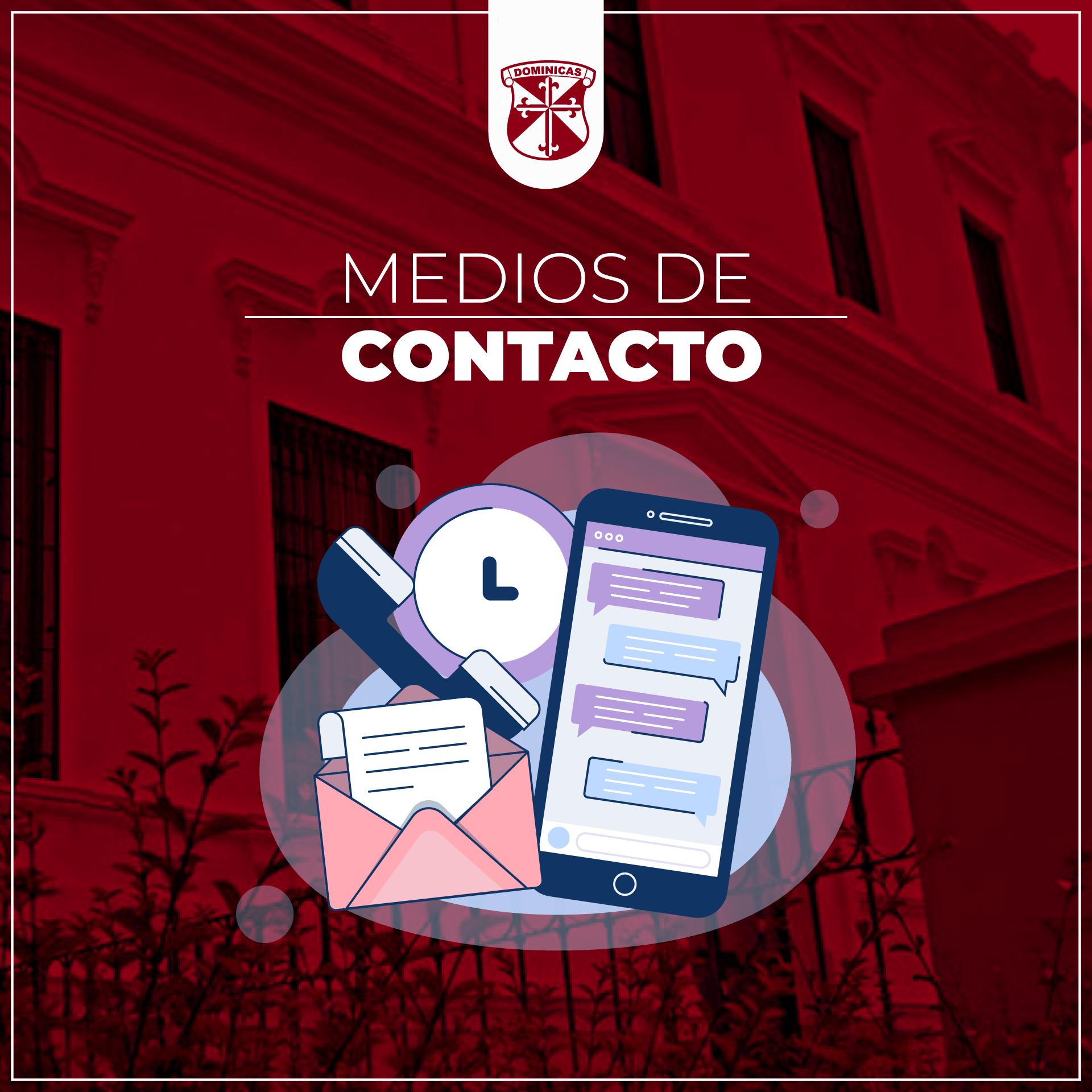 Medios de contacto: